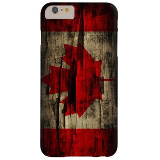 Bandera de la cáscara del Grunge del vintage de Funda De iPhone 6 Plus Barely There