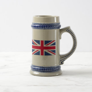 Bandera de la cerveza Stein de Reino Unido Taza De Café