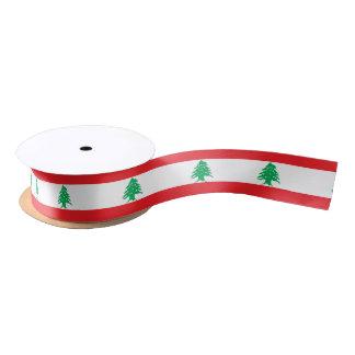 Bandera de la cinta de Líbano Lazo De Raso