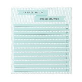 Bandera de la cinta para hacer la lista de control libreta para notas
