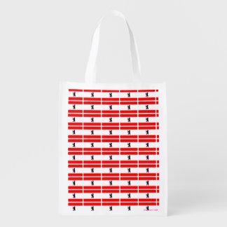 Bandera de la ciudad alemana de Berlín Bolsas Para La Compra