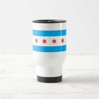 Bandera de la ciudad de Chicago Taza Térmica