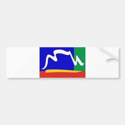 bandera de la ciudad de Ciudad del Cabo Pegatina Para Auto