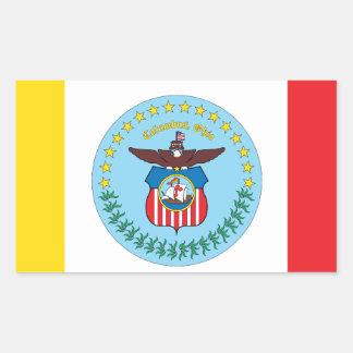 Bandera de la ciudad de Columbus Rectangular Pegatina