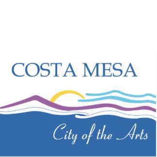 Bandera de la ciudad de Costa Mesa Fotoescultura Vertical