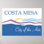 Bandera de la ciudad de Costa Mesa Posters