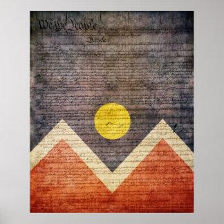 Bandera de la ciudad de Denver Póster
