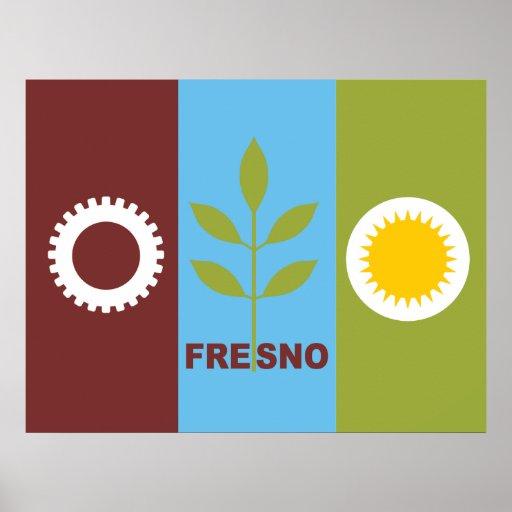 Bandera de la ciudad de Fresno Impresiones