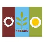 Bandera de la ciudad de Fresno Postales