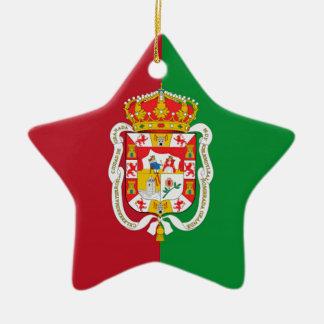 Bandera de la ciudad de Granada (España) Ornatos