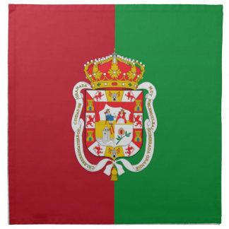 Bandera de la ciudad de Granada (España) Servilleta Imprimida