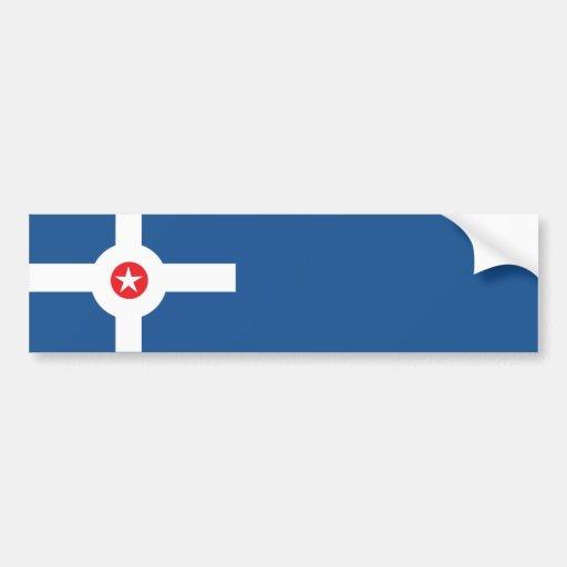 Bandera de la ciudad de Indianapolis Pegatina Para Auto