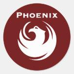Bandera de la ciudad de Phoenix Etiquetas Redondas