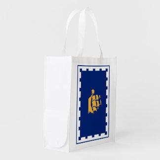 Bandera de la CIUDAD DE QUEBEC Bolsa Reutilizable