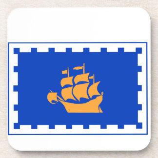 Bandera de la ciudad de Quebec Posavasos