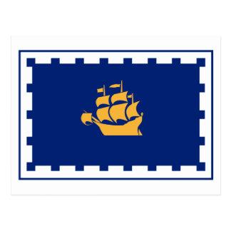 Bandera de la ciudad de Quebec Postal