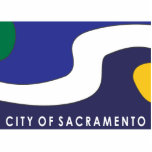 Bandera de la ciudad de Sacramento Esculturas Fotograficas