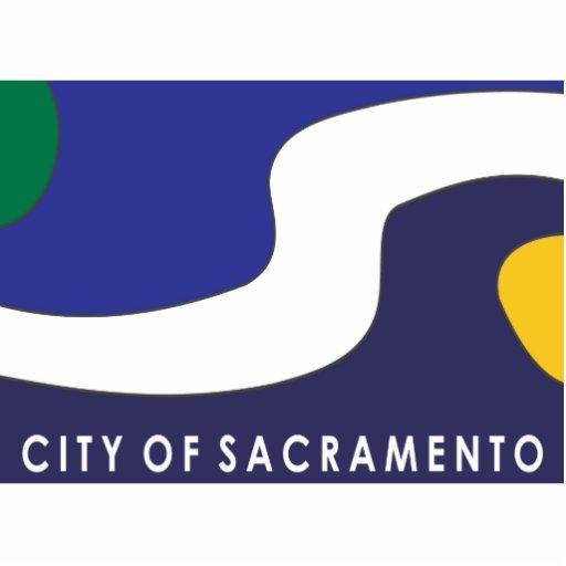 Bandera de la ciudad de Sacramento Fotoescultura Vertical