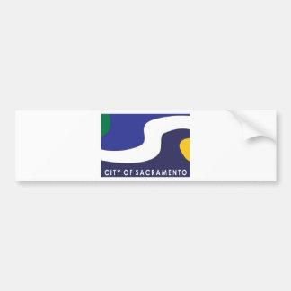 Bandera de la ciudad de Sacramento Pegatina Para Auto