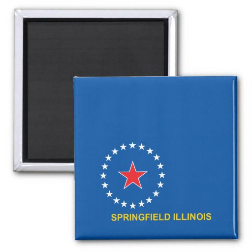 Bandera de la ciudad de Springfield Iman De Frigorífico