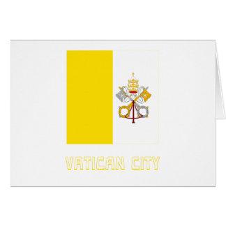 Bandera de la Ciudad del Vaticano con nombre Tarjetas