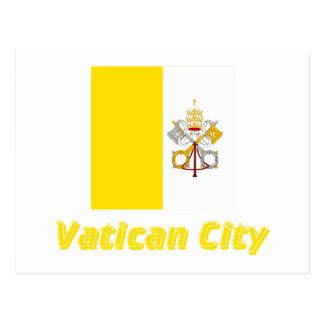 Bandera de la Ciudad del Vaticano con nombre Postal