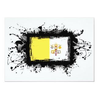 """Bandera de la Ciudad del Vaticano Invitación 5"""" X 7"""""""