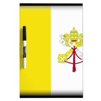 Bandera de la Ciudad del Vaticano Tablero Blanco