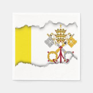 Bandera de la Ciudad del Vaticano Servilletas De Papel