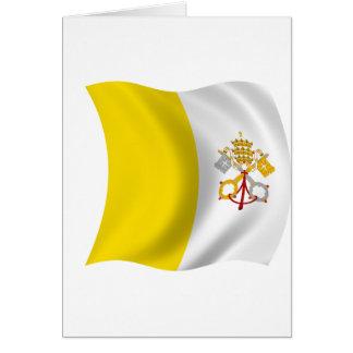 Bandera de la Ciudad del Vaticano Tarjeta
