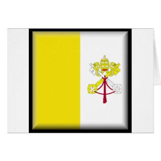 Bandera de la Ciudad del Vaticano Felicitacion