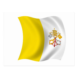 Bandera de la Ciudad del Vaticano Tarjeta Postal