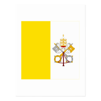 Bandera de la Ciudad del Vaticano Postal