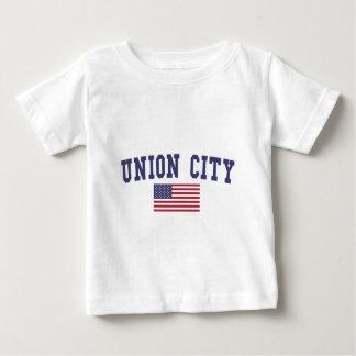 Bandera de la ciudad NJ los E.E.U.U. de la unión Playera De Bebé