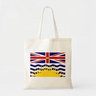 Bandera de la Columbia Británica de Canadá Bolsa Tela Barata