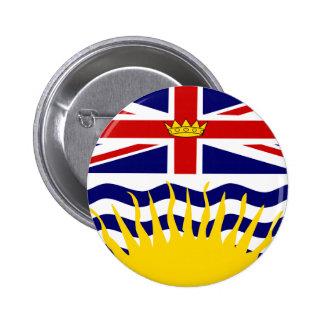 Bandera de la Columbia Británica de Canadá Pin Redondo De 2 Pulgadas