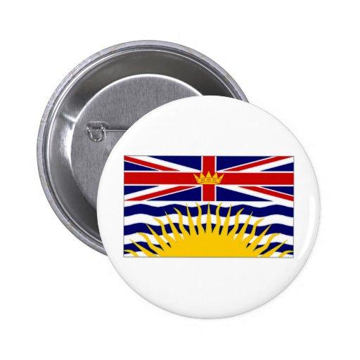 Bandera de la Columbia Británica de Canadá Pins