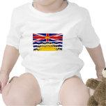 Bandera de la Columbia Británica de Canadá Traje De Bebé