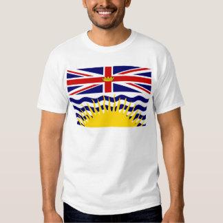 Bandera de la Columbia Británica de Canadá Polera