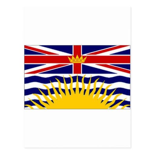 Bandera de la Columbia Británica de Canadá Tarjetas Postales