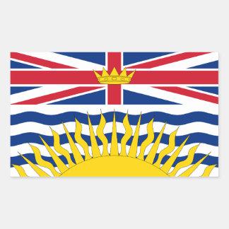Bandera de la Columbia Británica Pegatina Rectangular