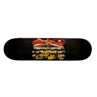 Bandera de la Columbia Británica Skate Boards
