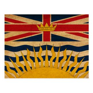 Bandera de la Columbia Británica Tarjeta Postal
