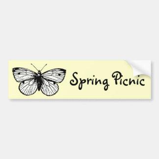 Bandera de la comida campestre de la primavera de pegatina de parachoque