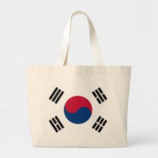 Bandera de la Corea del Sur Bolsa Tela Grande
