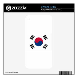 Bandera de la Corea del Sur Calcomanías Para iPhone 4