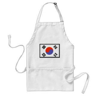 Bandera de la Corea del Sur Delantal