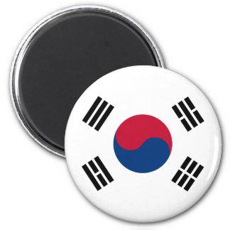Bandera de la Corea del Sur Imán Redondo 5 Cm