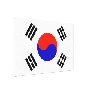 Bandera de la Corea del Sur Impresión En Lienzo Estirada