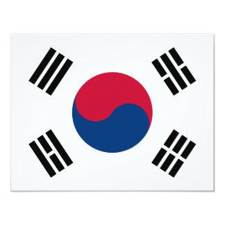 """Bandera de la Corea del Sur Invitación 4.25"""" X 5.5"""""""